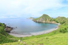 Baía na ilha de Padar imagem de stock