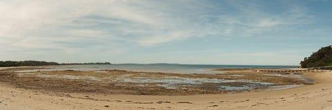 Baía na maré baixa Fotografia de Stock