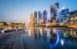 Baía ocidental de Doha Imagens de Stock