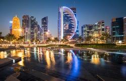 Baía ocidental de Doha Imagem de Stock
