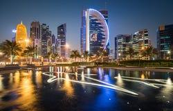 Baía ocidental de Doha Foto de Stock Royalty Free