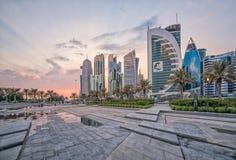 Baía ocidental de Doha Imagem de Stock Royalty Free