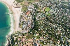 Baía opinião aérea de Cape Town de Hout, África do Sul fotografia de stock royalty free