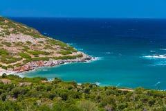 Baía perto de Agia Pelagia Fotografia de Stock Royalty Free