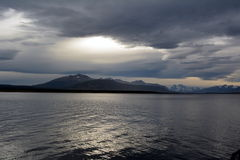 Baía perto de Puerto Natales fotos de stock