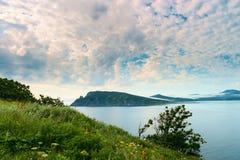 Baía por nome Vladimir Russia Primorsky Krai Fotografia de Stock