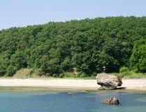 Baía selvagem de Karadere do Mar Negro, Bulgária Fotos de Stock