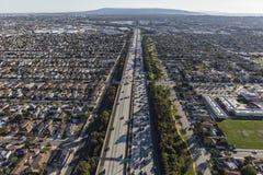 Baía sul de San Diego Freeway Aerial Los Angeles foto de stock royalty free