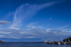 A baía Tadoussac, Quebeque, Canadá Imagens de Stock