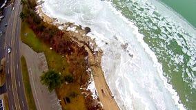 A baía transversal grande no estado de michigan froszen em março imagem de stock