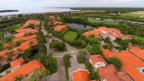 Baía video Miami de Deering do zangão aéreo