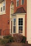 Baía Windows da casa fotografia de stock