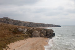 Baías do parque natural da paisagem de Karalarsky Fotografia de Stock Royalty Free