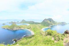 Baías na ilha de Padar fotografia de stock royalty free