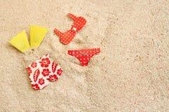 Bañadores en la playa Imagen de archivo