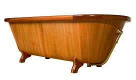 Bañera de madera única Fotografía de archivo libre de regalías