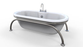 Bañera moderna aislada en el fondo blanco ilustración del vector