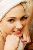 Bañera relajante de la mujer Imagen de archivo