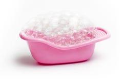 Bañera rosada Imágenes de archivo libres de regalías