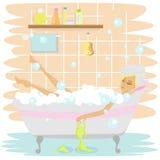 Baño 1 stock de ilustración