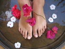 Baño 1c del pie Fotografía de archivo