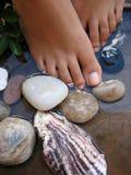 Baño 2c del pie Fotografía de archivo