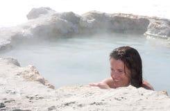 Baño azul Fotos de archivo