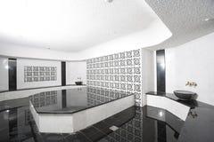 baño blanco y negro Fotografía de archivo