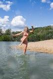 Baño con la diversión imagen de archivo