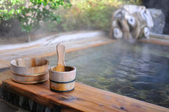 Baño de aire abierto del japonés Imagenes de archivo