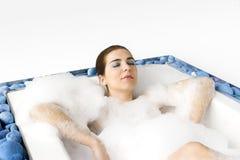 Baño de burbuja lujoso imagen de archivo libre de regalías