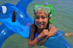 Baño de la muchacha Fotografía de archivo libre de regalías