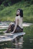 Baño de la mujer Fotografía de archivo