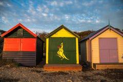 Baño de las cajas en Brighton Beach, Melbourne Imagen de archivo libre de regalías