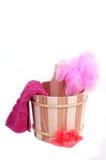 Baño de los accesorios Imagen de archivo libre de regalías