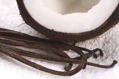 Baño de los Cocos y de la vainilla Fotos de archivo libres de regalías