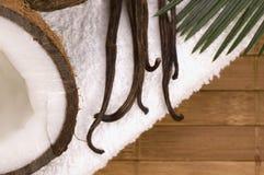 Baño de los Cocos y de la vainilla Fotografía de archivo libre de regalías