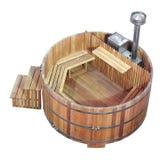 Baño de madera de la sauna y de vapor Imagen de archivo libre de regalías