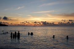 Baño de Seychelles Fotos de archivo