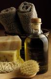 Baño del aceite de oliva Foto de archivo libre de regalías