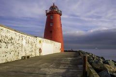 Baño del faro de Poolbeg, Dublín Imágenes de archivo libres de regalías