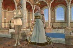 Baño del griego clásico Fotos de archivo libres de regalías