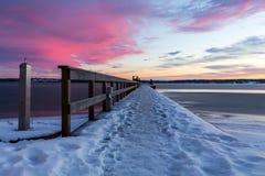 Baño del invierno Imagenes de archivo