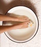 Baño del pie Imagen de archivo
