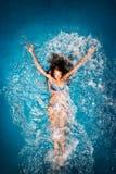 Baño en azul. Imagenes de archivo