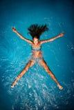 Baño en azul. Imagen de archivo libre de regalías