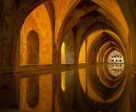 Baño en el Alcazar, Sevilla, España Fotos de archivo libres de regalías