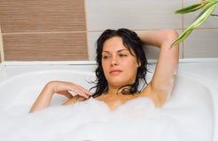 Baño-espuma Foto de archivo libre de regalías