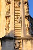 BAÑO, REINO UNIDO: Detalle arquitectónico de la fachada de la abadía del baño Imágenes de archivo libres de regalías