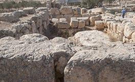 Baño ritual en la ciudad hebrea antigua de Susya imágenes de archivo libres de regalías